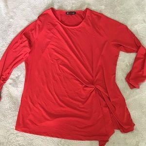 NWT INC red blouse 1X
